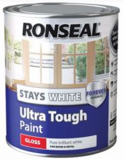 Ronseal Stays White Ultra Tough Paint Gloss Satin Matt 750ml 2.5ltr